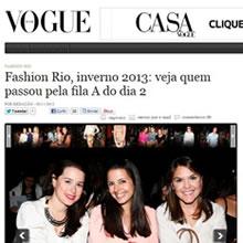 Site da Vogue | Novembro 2012