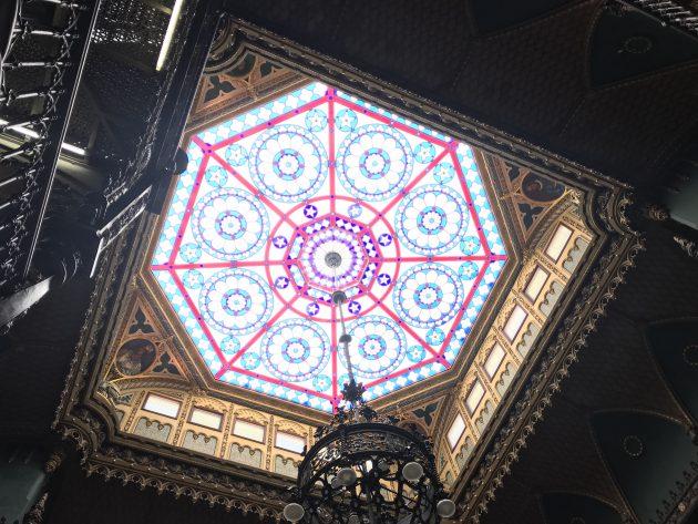 clarabóia do gabinete real português vista de baixo