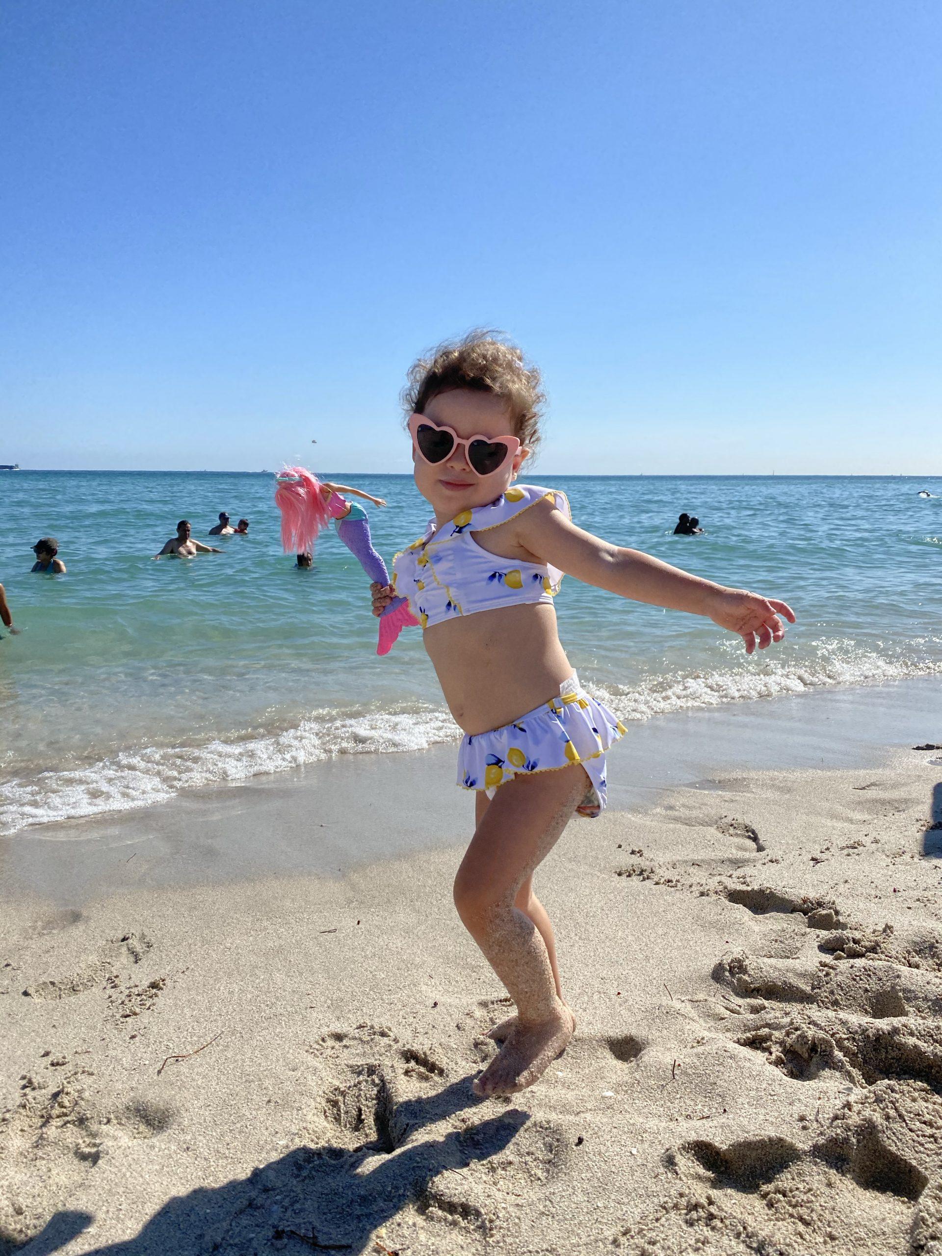 Victoria na praia em Miami