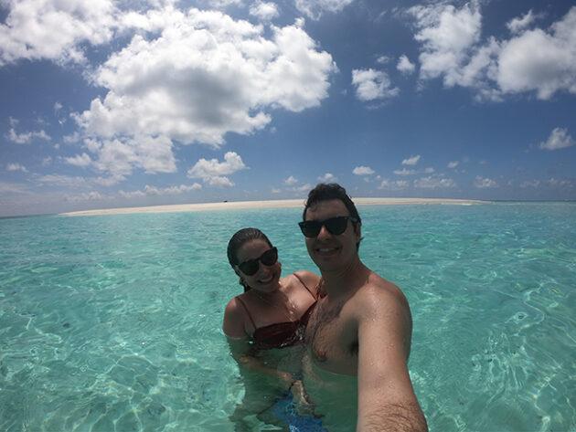 banco de areia six senses laamu maldivas