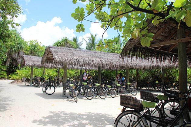 bicicletas six senses laamu maldivas